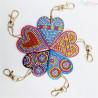 Zestaw do diamond painting - kolorowe serca