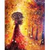 Zestaw do diamond painting - dziewczyna z parasolką