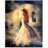 Zestaw do diamond painting - Dziewczyna z koniem