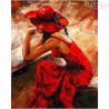 Malowanie po numerach -  Kobieta w czerwonym kapeluszu