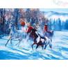 Malowanie po numerach - Konie zimą