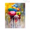 Malowanie po numerach -Kolorowe parasolki