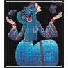 Zestaw do diamond painting - kobieta z motylem