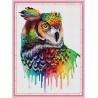 Zestaw do diamond painting - kolorowa sowa