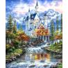 Zestaw do diamond painting - Zamek nad rzeką