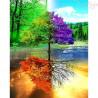 Zestaw do diamond painting -drzewo 4 pory roku