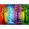 Zestaw do diamond painting - 4 pory roku drzewa