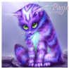 Zestaw do diamond painting - fioletowy kot