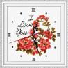 Piwonie - zegar