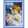 Dziewczynka śliczny aniołeczek