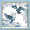 Pokojowy biały gołąb