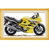 Żółty motocykl