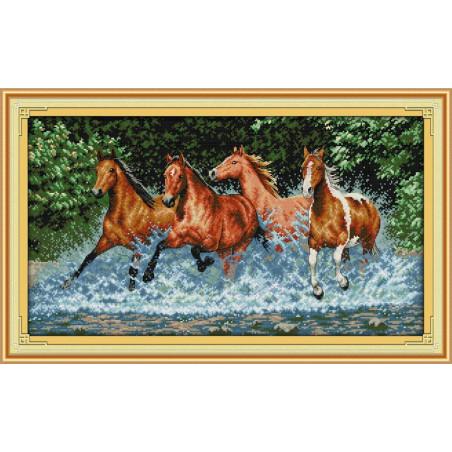Konie w galopie