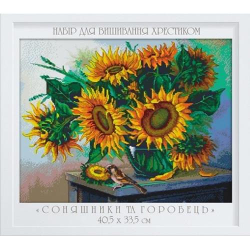 Słonecznik i wróbelek