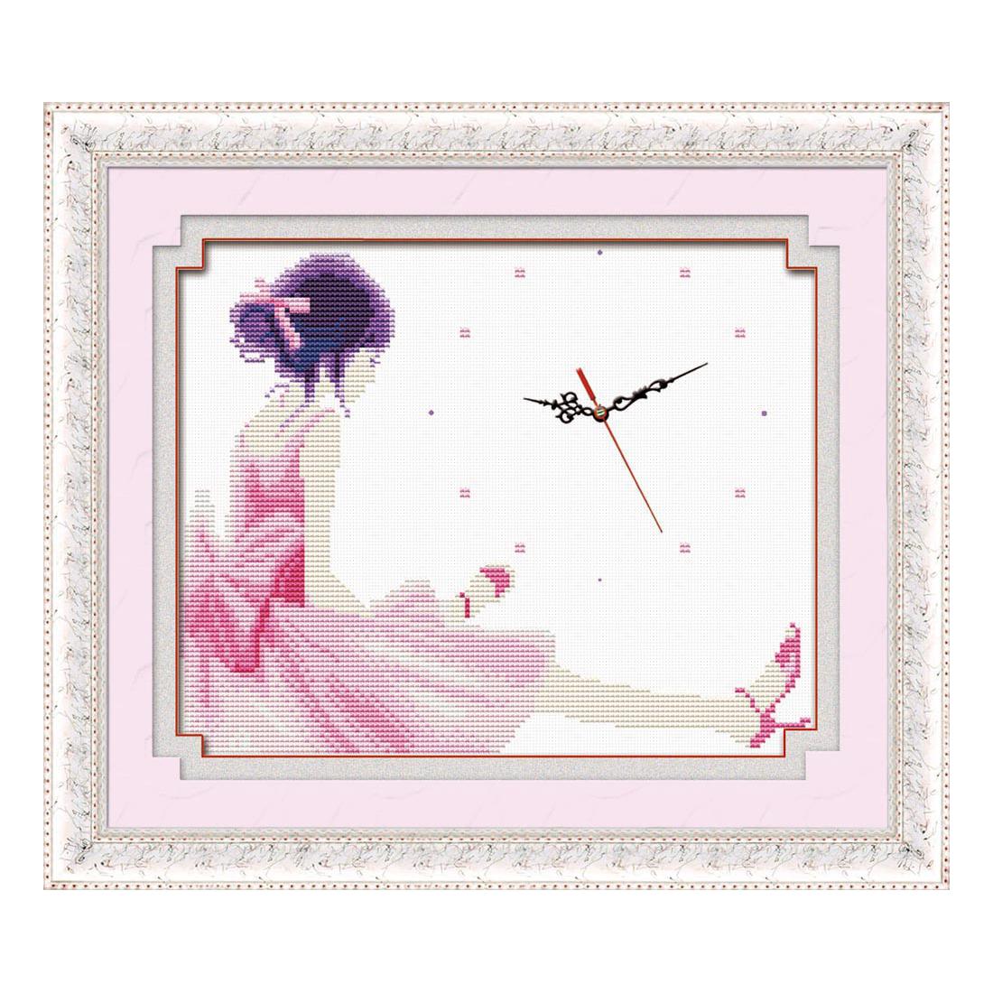 Dziewczyna  z zegarm róż