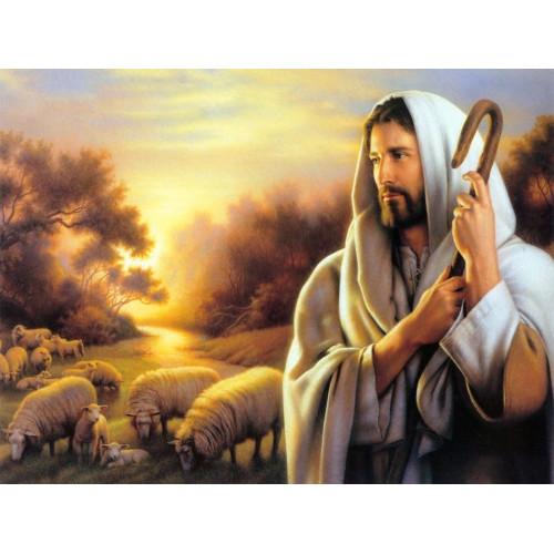 Pasterz z owieczkami