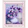 Fioletowy bukiet kwiatów